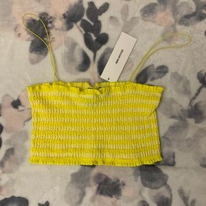 Cute Yellow Crop Tank Top From Urban Outfitters!